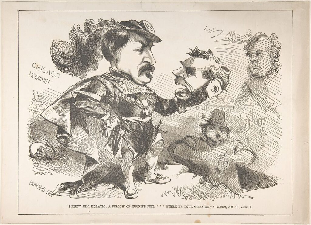 Political Shakespeare: Lincoln, Hamlet, and a Civil War Cartoon shakespeare news The Shakespeare Standard theshakespearestandard.com shakespeare plays list play shakespeare